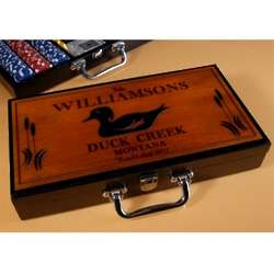 Personalized Wood Duck Poker Set
