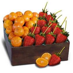 April Tangerines and Strawberries Gift Box