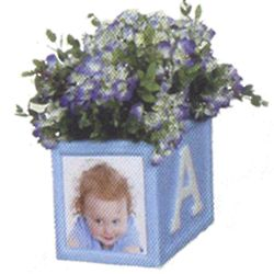 It's A Boy Photo Planter