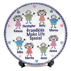 "Personalized 11"" Grandkids Plate"
