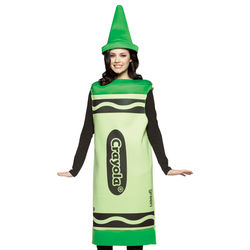 Green Adult Crayola Crayon Costume