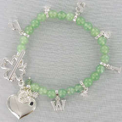 Engraved Shamrock Wish Bracelet