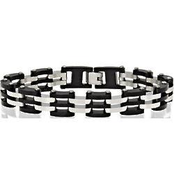Men's Two Tone Stainless Steel Bracelet