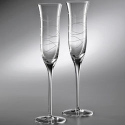 Crystal Motus Champagne Flutes