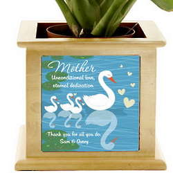 Mother's Love Personalized Wooden Planter