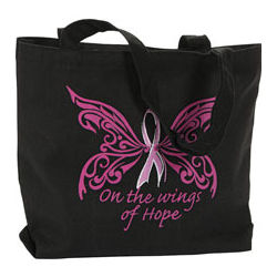 Pink Ribbon Bible Bag