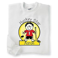 Youth's Personalized Hockey Sweatshirt
