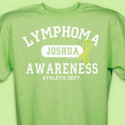 Lymphoma Awareness Athletic Dept. T-Shirt