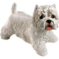 Hand-Cast West Highland White Terrier Figurine