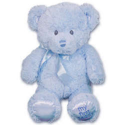 Personalized My First Blue Teddy Bear