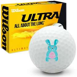 Blue Easter Bunny Ultimate Distance Golf Balls