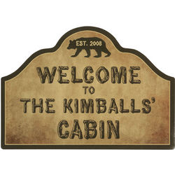 Personalized Cabin Magnetic Sign