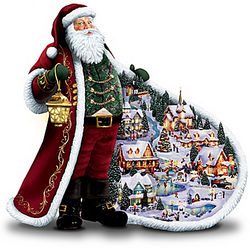 Illuminated Santa's Holiday Figurine