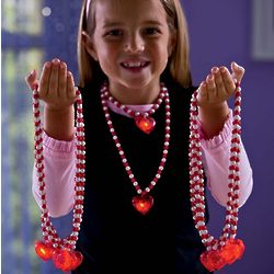 Light-Up Heart Necklaces