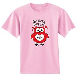 Personalized Owl Always Love You T-Shirt