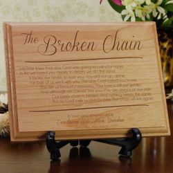Personalized Broken Chain Sympathy Plaque