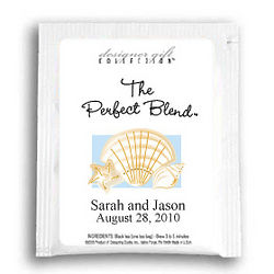 Personalized Beach Wedding Tea Favors