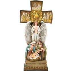 Cross Nativity Statue