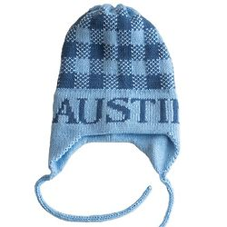 Personalized Child's Gingham Hat with Earflaps
