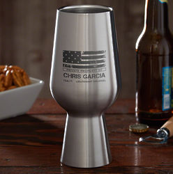 American Heroes Personalized Militar Stainless Steel Pint Glass