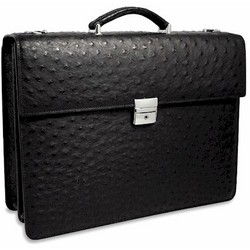 Genuine Ostrich Elite Briefcase