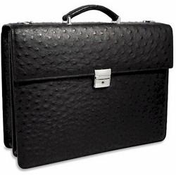 Genuine Ostrich Elite Briefcase