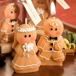 Gingerbread Bride or Groom Candle Favors