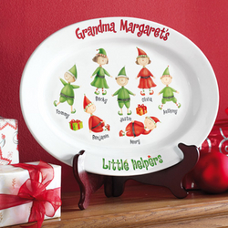 Personalized Little Helpers Holiday Platter