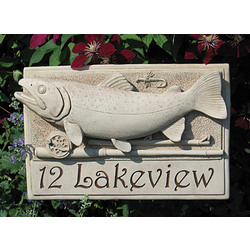 Personalized Trout Plaque