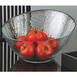 Angle Glass Salad Bowl