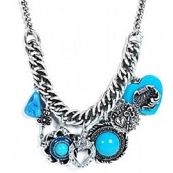 Enamel Charmed Necklace