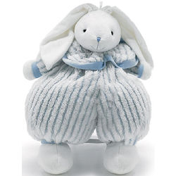 Floppy Rabbit with Blue and White Outfit