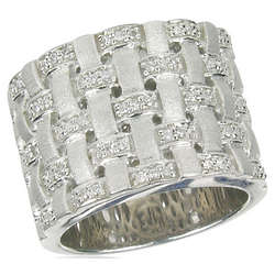 Balissima Diamond Ring in Sterling Silver
