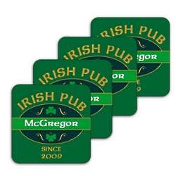 Personalized Irish Pub Coasters