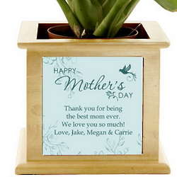 Mother's Day Personalized Wooden Planter