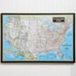 Personalized Framed United States Canvas Map