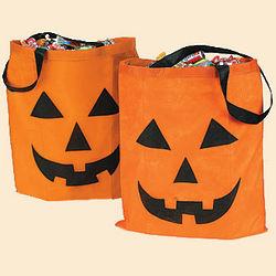 Large Jack-O'-Lantern Tote Bags