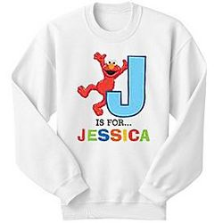 Personalized Elmo Initial Alphabet Sweatshirt