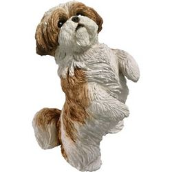 Hand-Cast Shih Tzu Dog Figurine