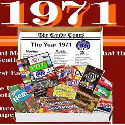 Retro 1971 Candy Box