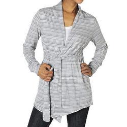 Stripe Wrap Cardigan