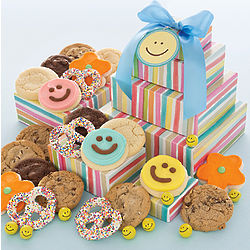 Happy Face Cookie Gift Tower