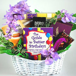 Guide to Better Birthdays Gift Basket