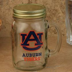 Auburn Tigers Lidded Mason Jar