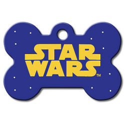 Star Wars Bone Personalized Pet Large ID Tag