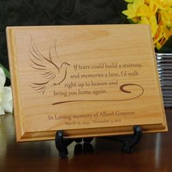 If Tears Personalized Memorial Plaque