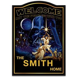 Star Wars Personalized Family Name Wooden Welcome Sign