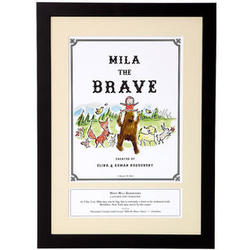 Kid's Personalized Brave Storybook Art Print