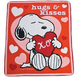 Peanuts Snoopy Valentine Fleece Throw