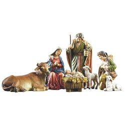 Holy Family and Shepherd 6-Piece Nativity Set